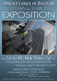 Exposition Didier ESQUER - « J'ai vu NY, New York USA »